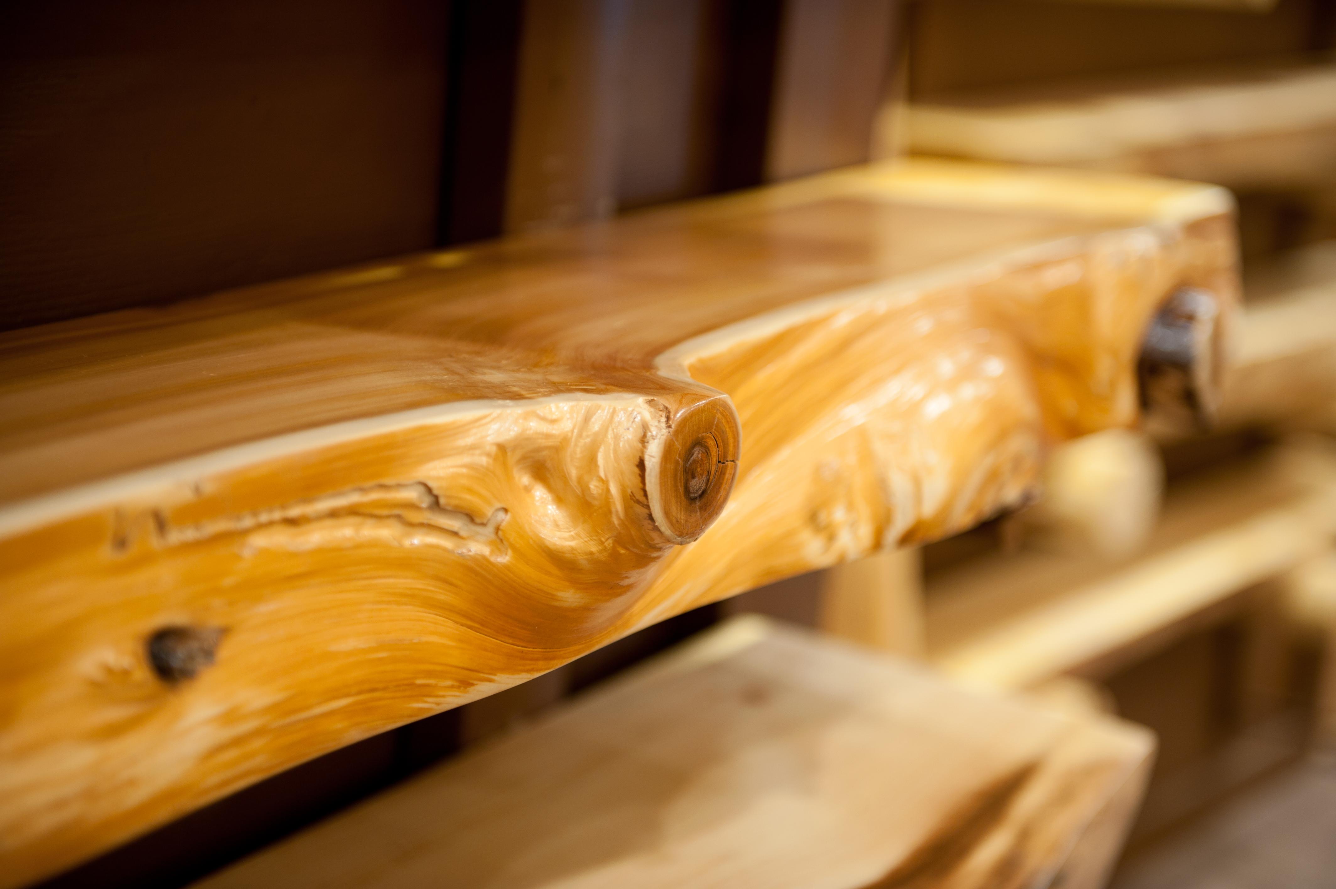 White Pine Slab Log Mantels