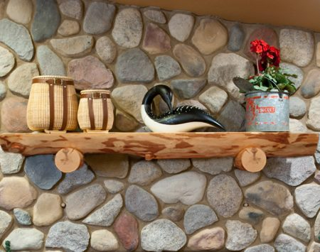 White Pine Log Mantel - North Shore Log Company - Purchase Quality Custom Made Log Mantels